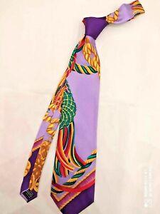 CRAVATTA GIANNI VERSACE ART. V21 UOMO 100% PURA seta SILK made in Italy