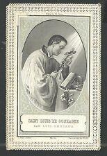 Estampa Puntilla Canivet San Luis Gonzaga andachtsbild santino holy card