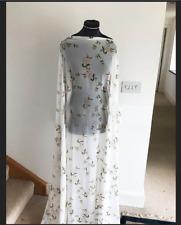Dressmaking Fabric Vintage Style Honeysuckle Rose Floral Washed Chiffon 2mts