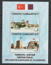 Turkey 2018 Fortresses joint Issue Qatar MNH Block