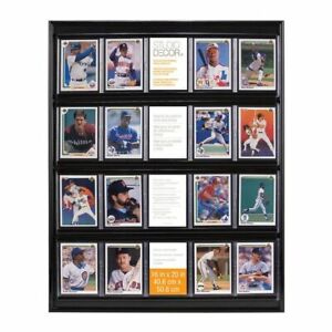"NEW - Studio Decor Collector 20 Trading Cards Wall Display, 16"" x 20"" w Baseball"