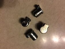 4 New Gits oil hole oil cup with covers. 10 mm drive In beaded