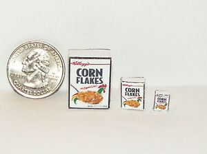 Dollhouse Miniature Food Breakfast Cereal 1:24 Half Scale cf E83 Dollys Gallery