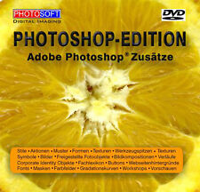 Adobe Photoshop CS 5 6 & CC Zusätze Plugins Stile Aktionen Pinsel Fotos Texturen