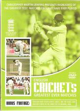 ENGLISH CRICKETS GREATEST EVER MATCHES - 2 DVD SET (Cricket) Ashes,1 day's +More