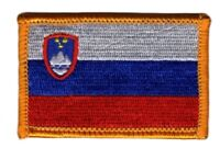 SLOVENIA FLAG PATCH BADGE IRON ON NEW EMBROIDERED