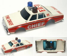 1986 Aurora AFX G+ Chevy FIRE CHIEF FD-11 Slot Car BODY