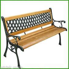Panchina in legno e ghisa da giardino panca arredamento esterno in stile antico