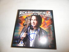 """RICK SPRINGFIELD SIGNED """"SONGS FOR THE END OF THE WORLD"""" NEW CD COVER PROOF"""