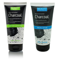BEAUTY FORMULAS - Activated Charcoal Facial Scrub or Detox Cleanser 150ml