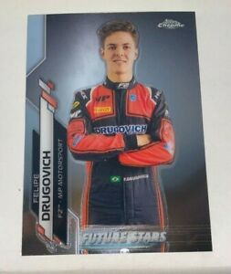 FELIPE DRUGOVICH 2020 Topps Chrome Formula One 1 F1 Future Stars Rookie RC #50
