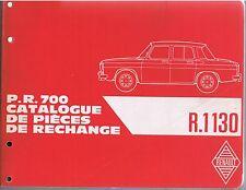 R8 CATALOGUE PIECES DE RECHANGE RENAULT R 1130 ANNEES 60 en huit langues