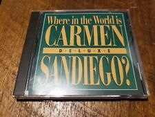 Where in the World is Carmen Sandiego - Deluxe - PC CD Rom Game  VG