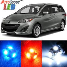 10 x Premium Xenon White LED Lights Interior Package Kit Mazda 5