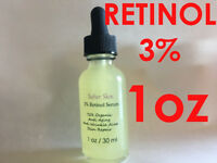 Retinol 3% 1oz Clinical Strength Organic Hyaluronic Acid Potent Wrinkle Serum