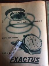 Publicidad Reloj Exactus de 1955