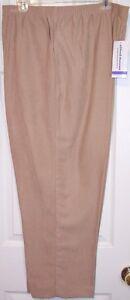 NWT Alfred Dunner Tan Polyester Pants Slacks, 18 Short or 18 Medium, $42