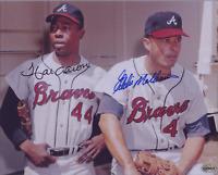 Hank Aaron / Eddie Mathews Autographed Signed 8x10 Photo ( HOF Braves ) REPRINT