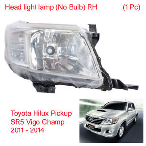 Head light lamp (No Bulb) RH 1 Pc For Toyota Hilux SR5 Vigo Champ 2011 - 2014
