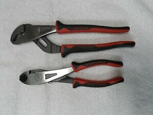 """Craftsman Professional 8"""" Wide Jaw & 9-1/2"""" Arc Joint Pliers, USA - 45767/45761"""