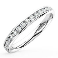 0.50CT Round Brilliant Cut Diamonds Full Eternity Wedding Ring in 9K White Gold