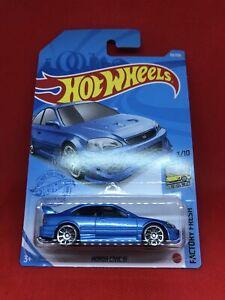 2021 Hot Wheels D Case 63/250 - Honda Civic SI - Factory Fresh