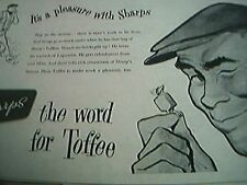 newspaper folded advert 1956 sharps toffee liquorice the word for toffee