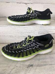 KEEN Uneek 1015481 Black & Green Bungee Water Shoe lightweight Sandal Big Kid 5