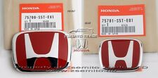 Honda Civic SI EP3 Type R FRONT REAR EMBLEM JDM H Red Genuine OEM Badge 2001 03