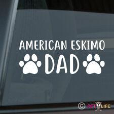 American Eskimo Dad Sticker Die Cut Vinyl - spitz german dog