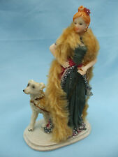 Collectable BN Boxed Kensington Giftware Elegant Woman & Cute White Dog Ornament