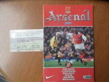 Away Teams Sunderland Football Programmes with Match Ticket