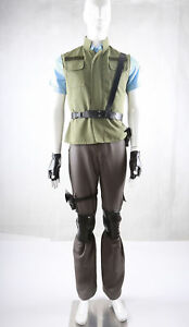 Resident Evil 1 Chris Redfield S.T.A.R.S. Uniform Cosplay Costume Y.1058