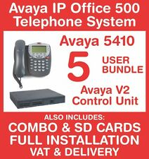 Avaya IP Office 500 Phone System (New with Refurb handsets) - 5 user - Inc VAT