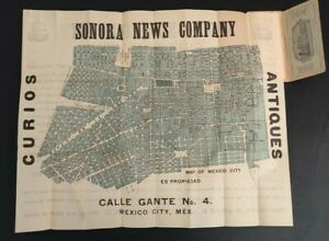 1910 Sonora News Company City Plan or Map of Central Mexico City, Mexico