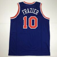 New WALT FRAZIER New York Blue Custom Stitched Basketball Jersey Size Men's XL
