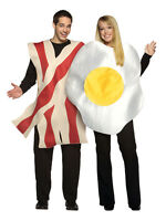 Bacon & Egg Fancy Dress Mens Ladies British English Breakfast Food Adult Costume