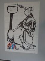 AFFICHE LORJOU - BEAUBOURG N'est que MERDE 1977 - LITHOGRAPHIE 44X63 cm