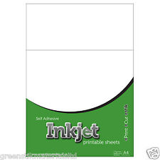 10 A4 Self Adhesive Ink Jet Matt Transparent - (Not Clear) Film Sticker Sheets