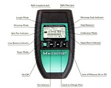 Microtest Microscanner Pro Cable Tester w Wiremap Adapter, Resource CD, ID Kit