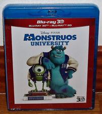 MONSTRUOS UNIVERSITY COMBO BLU-RAY 3D+BLU-RAY NUEVO DISNEY PIXAR PRECINTADO R2