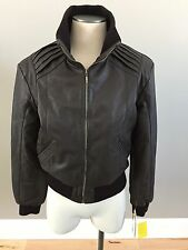 NWT Infinity Brown Bomer Leather Jacket- Womens L