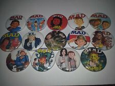 14 MAD Magazine Comic badges 25mm Alfred E. Neuman Rocky Walking Dead ET Aliens