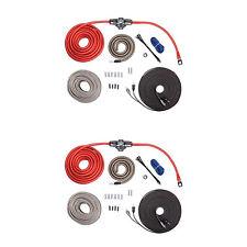 Rockford Fosgate RFK4X 4 AWG Complete Amp to Speaker Installation Kit (2 Pack)