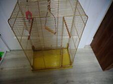 "Medium Gold Bird Cage Finch/Canary/Parakeet Small 25"" H x 16"" W x 9"" D"