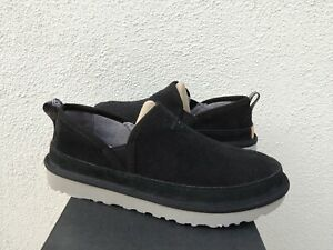 UGG BLACK ROMEO CORDUROY/ WOOL SLIPPERS, MEN US 9/ EUR 42 ~NIB