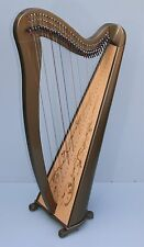 Mikel Aster 34 Strings Lever Harp, Custom color finish with carry bag and legs