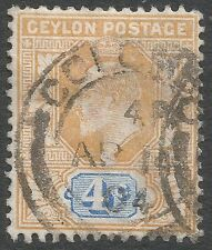 Single Edward VII (1902-1910) Ceylon Stamps