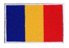 Ecusson patch patche drapeau Roumain ROUMANIE 70 x 45mm brodé à coudre