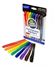 Crayola Take Note! 8ct Permanent Markers + Comfort Grip - 58-6508 [B10]
